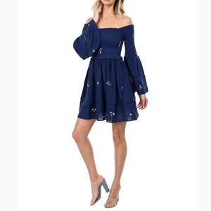 NWOT Free People Counting Daisies Mini Dress